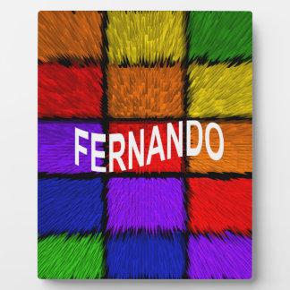 PLAQUE PHOTO FERNANDO