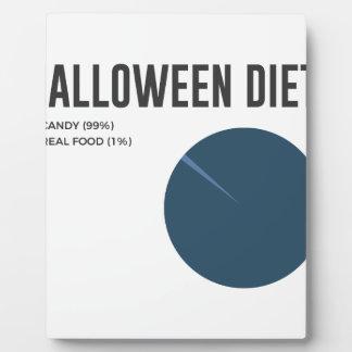 Plaque Photo Festins de bonbons à régime de Halloween et
