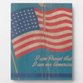 Plaque Photo Fier vintage d'être copie patriotique américaine