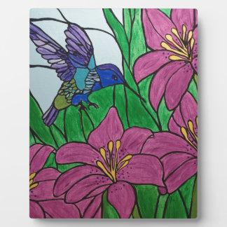 Plaque Photo Fleurs d'oiseau de ronflement