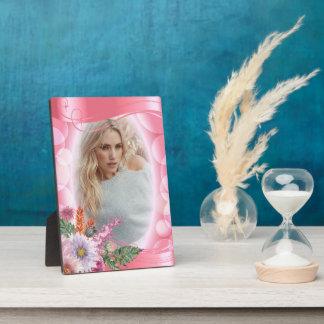 Plaque Photo Fleurs roses et jolies de Bokeh iridescent - photo