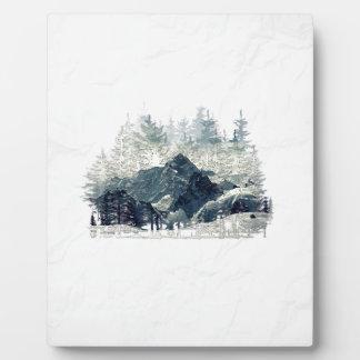 Plaque Photo Forêt d'hiver