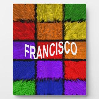 PLAQUE PHOTO FRANCISCO