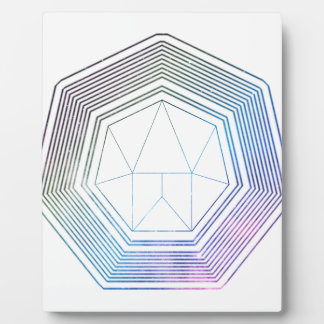Plaque Photo Galaxie de polygone
