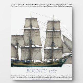 Plaque Photo générosité 1787 de hms