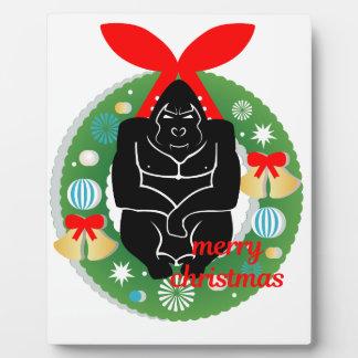 Plaque Photo gorille de Joyeux Noël