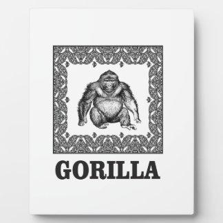 Plaque Photo gorille enfermé dans une boîte
