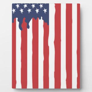 Plaque Photo Graffiti Etats-Unis de drapeau américain uni