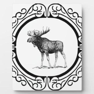 Plaque Photo grand art d'orignaux de taureau