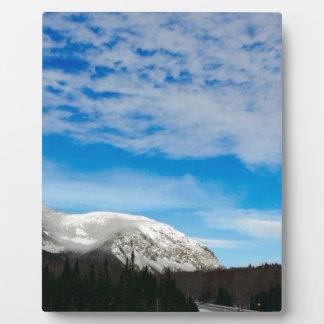 Plaque Photo Grand ciel bleu de montagnes blanches