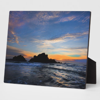 Plaque Photo Grand coucher du soleil de Sur