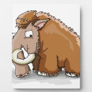 Plaque Photo Grande bande dessinée brune de cool de mammouth