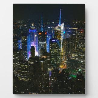 Plaque Photo Gratte-ciel de Manhattan Etats-Unis de nuit de New