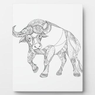 Plaque Photo Griffonnage de remplissage de Buffalo africain