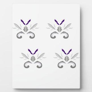 Plaque Photo Gris blanc d'ornements de luxe