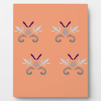 Plaque Photo Gris orange d'ornements de luxe