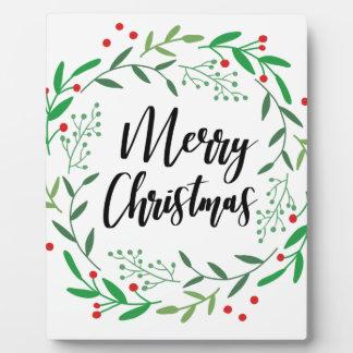 Plaque Photo Guirlande de Noël, Joyeux Noël, bonnes fêtes