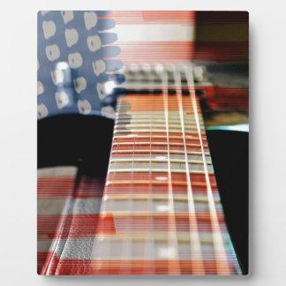 Plaque Photo Guitare électrique de guitare de bannière des