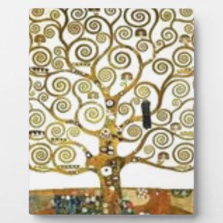 Plaque Photo Gustav Klimt - l'arbre de la peinture de la vie