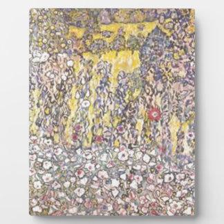 Plaque Photo Gustav Klimt - paysage horticole avec le sommet