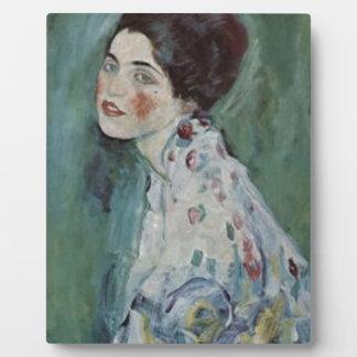 Plaque Photo Gustav Klimt - portrait de Madame Painting