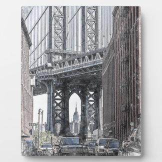 Plaque Photo Horizon de pont des Etats-Unis New York Manhattan