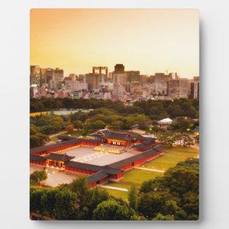 Plaque Photo Horizon de Séoul Corée du Sud