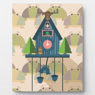 Plaque Photo Horloge de coucou avec le papier peint de tortue
