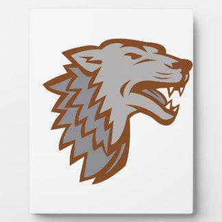 Plaque Photo Icône de loup gris d'écorcement