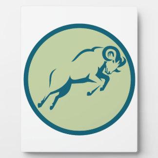 Plaque Photo Icône sautante de cercle de moutons de montagne