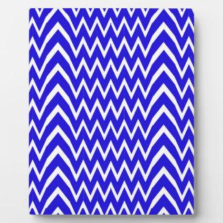 Plaque Photo Illusion bleue de Chevron