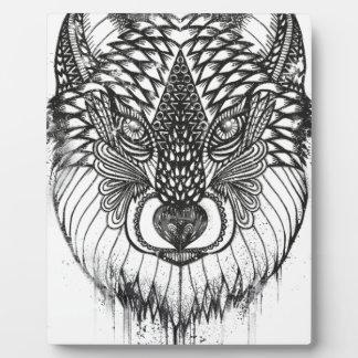 Plaque Photo Illustration de mandala de loup