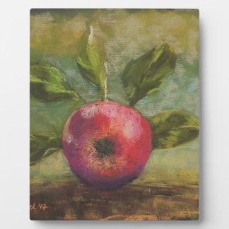 Plaque Photo Illustrations originales peignant la pomme rouge