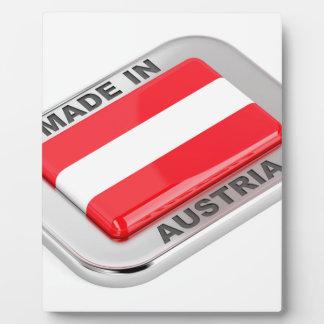 Plaque Photo Insigne argenté fabriqué en Autriche