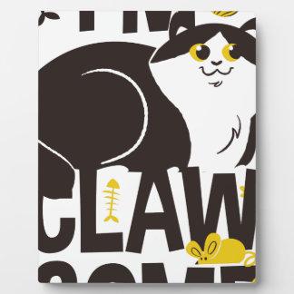 Plaque Photo Je suis chat
