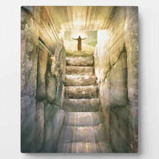 Plaque Photo Jésus à la résurrection vide de Pâques de tombe