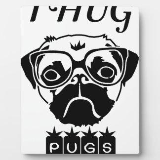 Plaque Photo J'étreins le T-shirt de cadeau d'animaux familiers