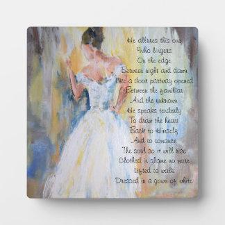 Plaque Photo Jeune mariée de la poésie inspirée du Christ