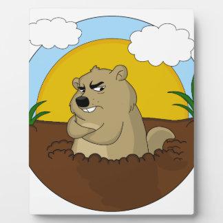Plaque Photo Jour de Groundhog