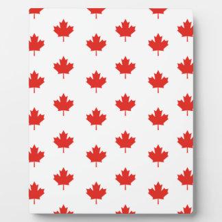 Plaque Photo Jour de nation de pays d'emblème du Canada de