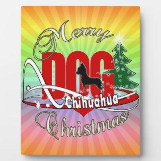 Plaque Photo Joyeux Noël de chiwawa