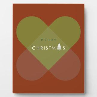 Plaque Photo Joyeux Noël - vert