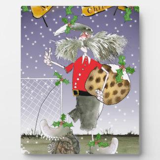 Plaque Photo joyeux passionés du football de Noël