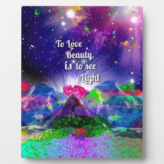 Plaque Photo La beauté évoque la lumière