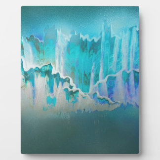 Plaque Photo La brume d'hiver entoure les montagnes