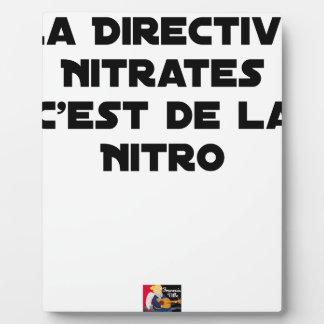 Plaque Photo La Directive Nitrates, c'est de la Nitro - Jeux de