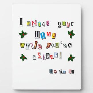 Plaque Photo La note de Père Noël