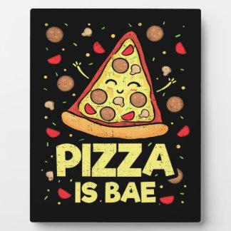 Plaque Photo La pizza est Bae - bande dessinée drôle mignonne