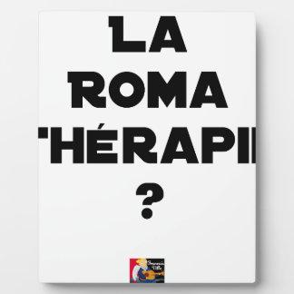 Plaque Photo LA ROMA THÉRAPIE ? - Jeux de mots - Francois Ville