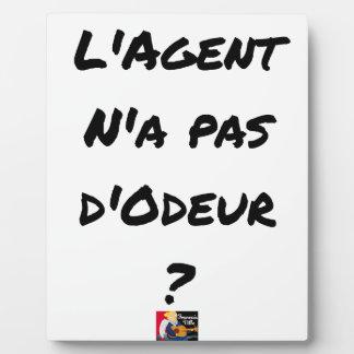 Plaque Photo L'AGENT N'A PAS D'ODEUR ? - Jeux de mots
